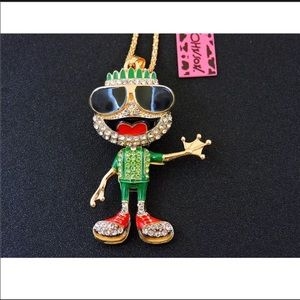 Betsey Johnson Frog Boy Necklace